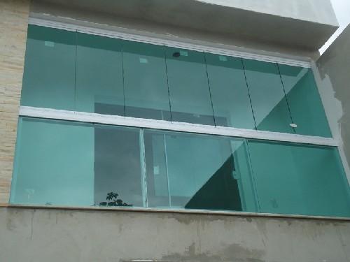 fechar sacada com vidro